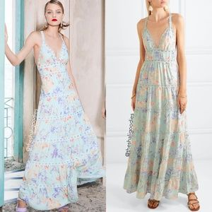 ALICE + OLIVIA Karolina Crochet Floral Maxi Dress